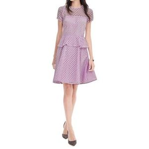 Banana Republic Geo Lace Lilac Peplum Dress | 6